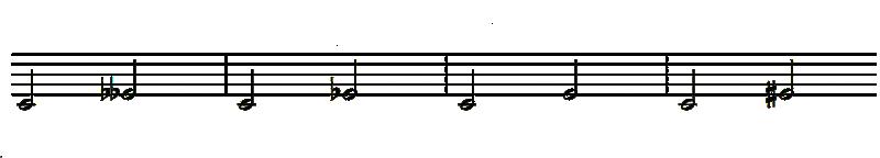 intervalos de tercera
